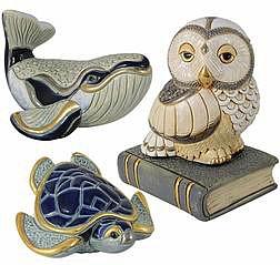 Поступление новых керамических фигурок животных De Rosa.