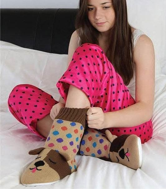 Тапочки-носочки вязаные fun for feet Собаки