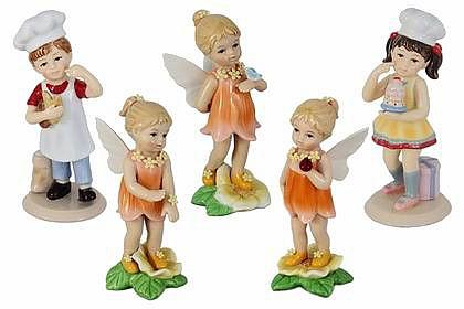 Новые серии фарфоровых статуэток: девочки-эльфики и дети-поварята