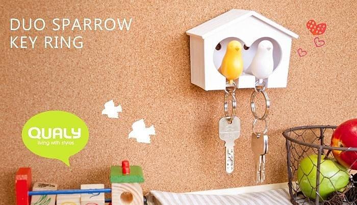 Держатель+брелок для ключей двойной Sparrow