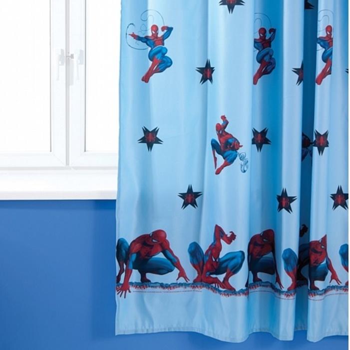 """Детская портьера TAC/Marvel """"Spider Man"""" голубой Детская портьера TAC/Marvel """"Spider Man"""" голубой GS0468"""